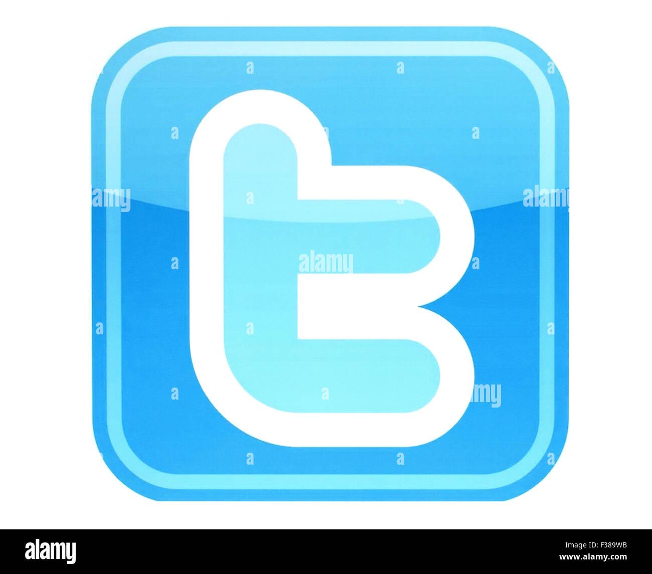 KIEV, UKRAINE - MAY 26, 2015:Twitter logotype printed on paper. - Stock Image