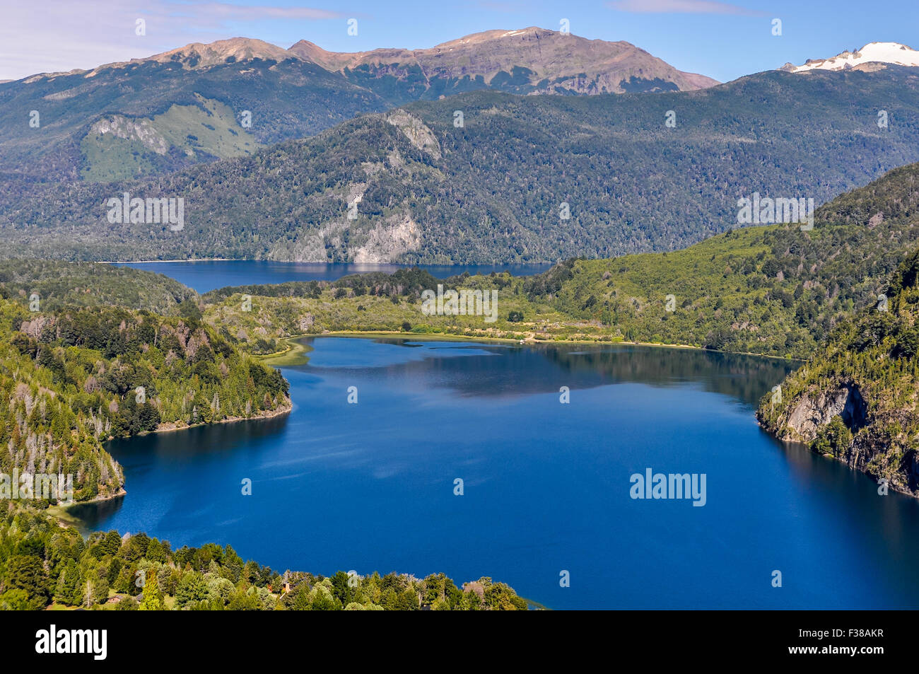 View of Lago Verde, Alerces National Park, Patagonia, Argentina - Stock Image