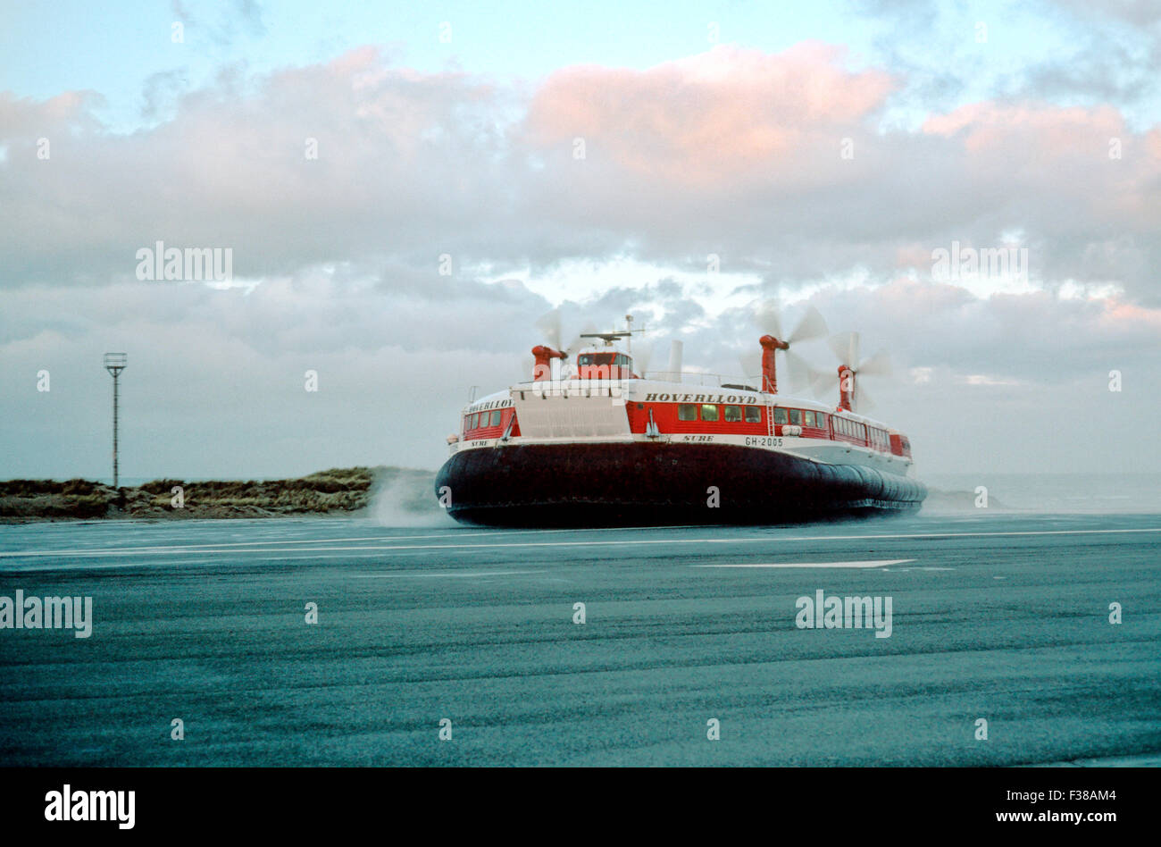 Hoverlloyd GH-2005, Sure Hovercraft, Ran between Dover and Calais with a 278 passenger capacity - 1969 - Stock Image