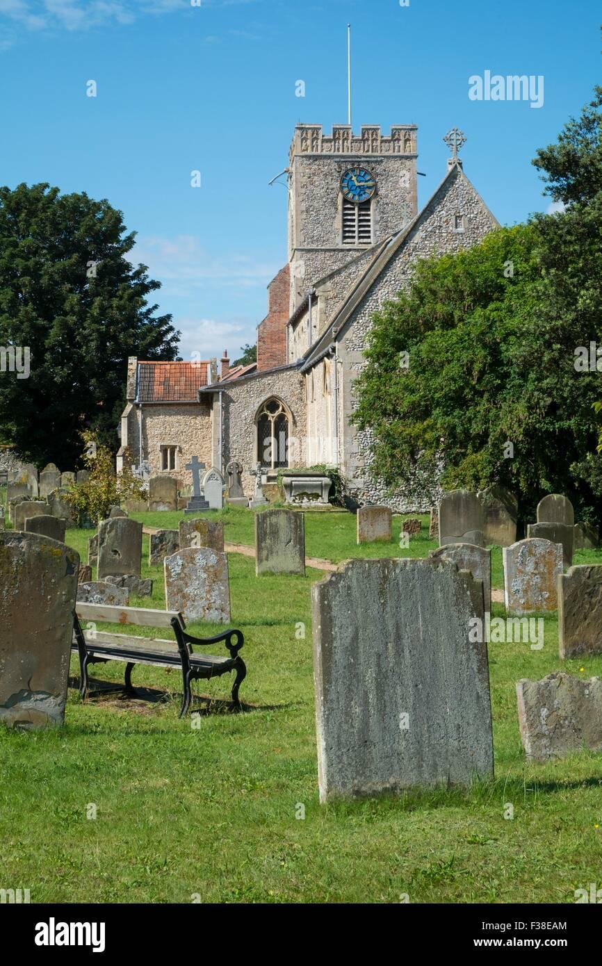 St Marys Church - Burnham Westgate Burnham Market - Stock Image