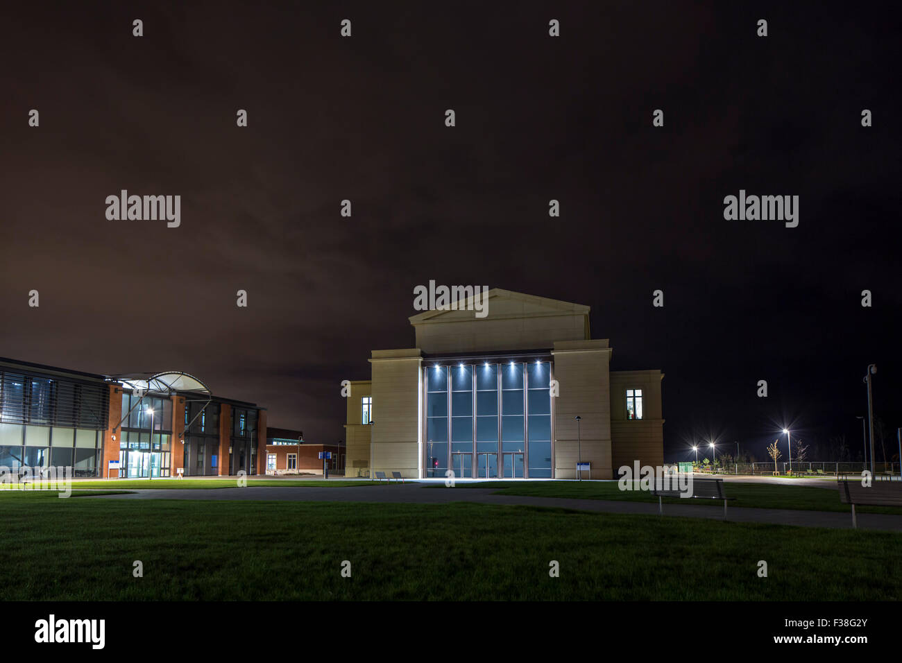 The new 'Bay Campus' of Swansea University, based in the east of the City off Fabian Way. - Stock Image
