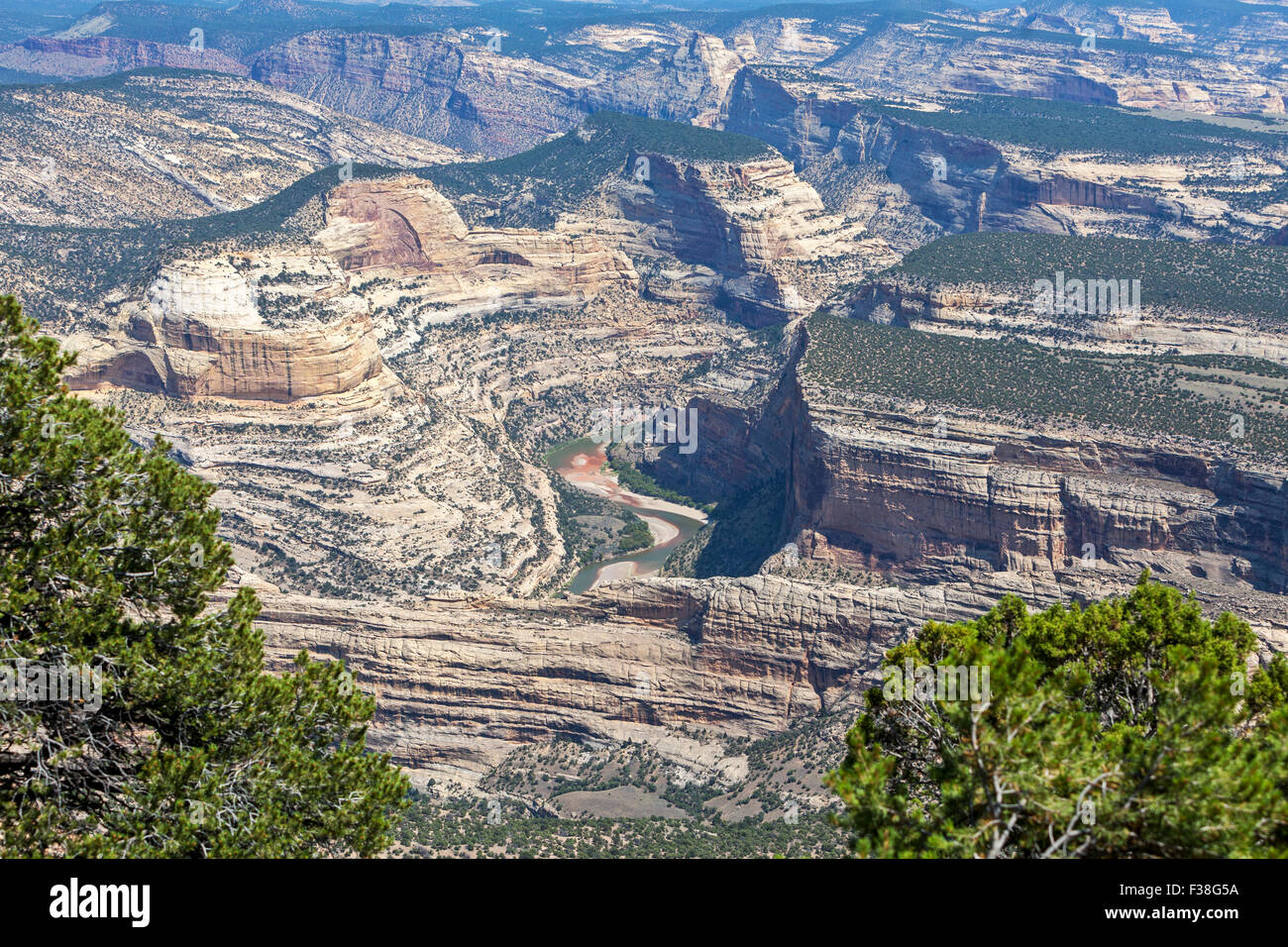 A view of Echo Park in Dinosaur National Park, Utah. - Stock Image