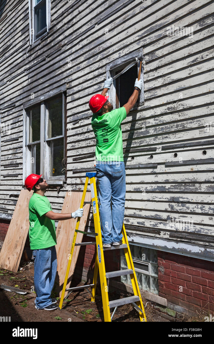 Detroit, Michigan - Volunteers from Life Remodeled, a