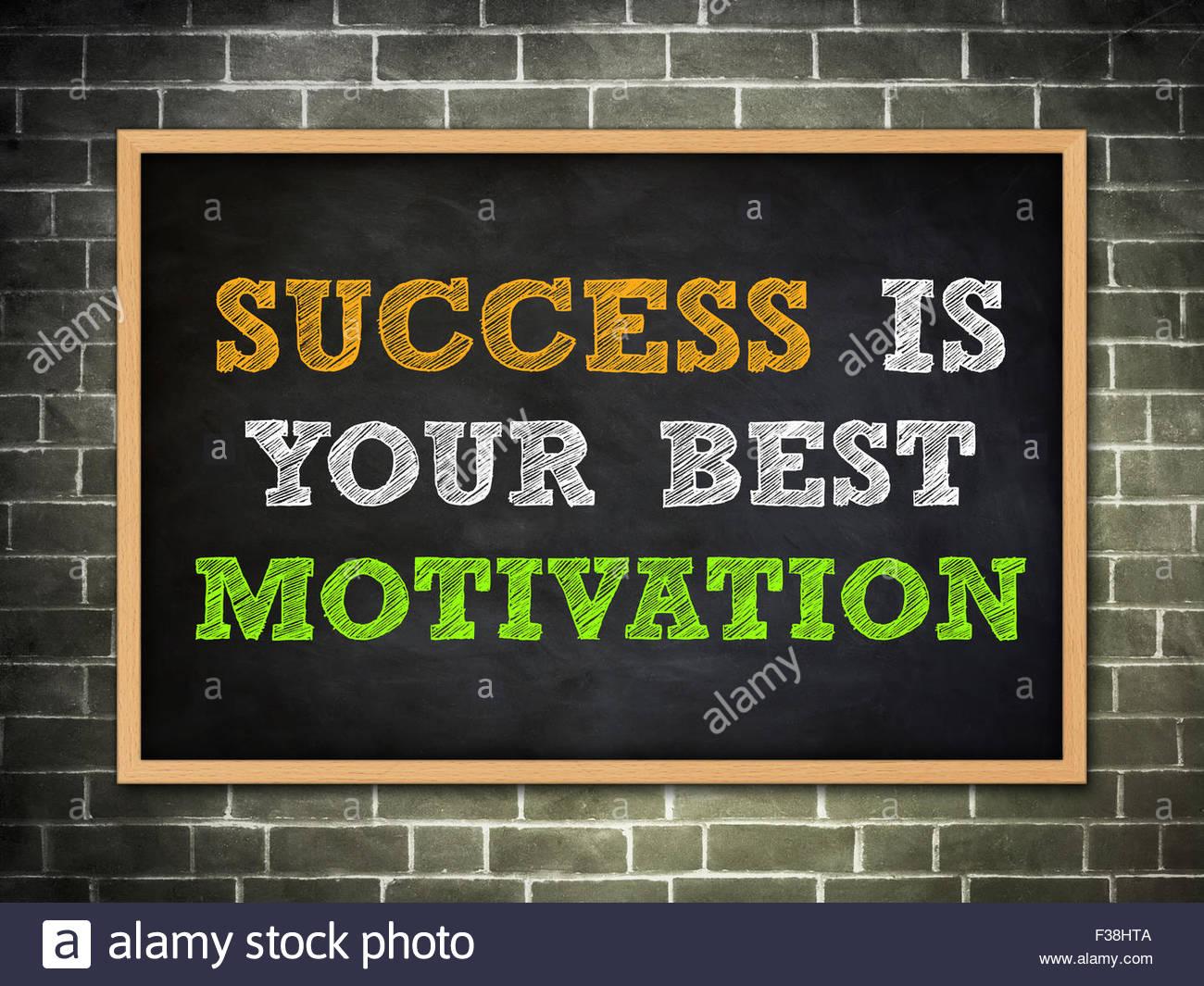 success is your best motivation - Stock Image