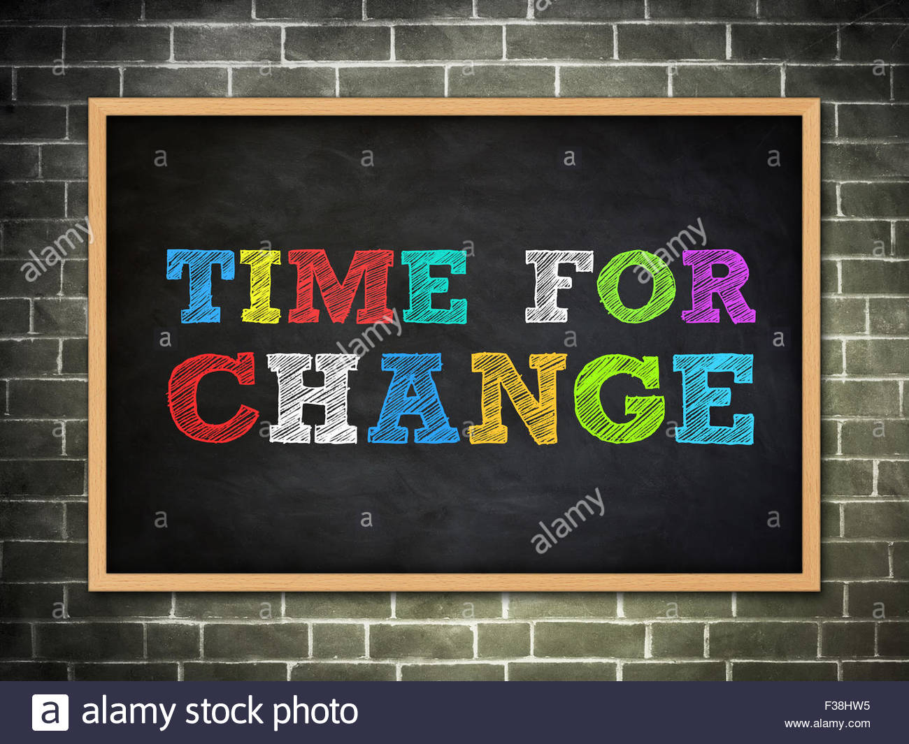 Time for change motivational concept - Stock Image