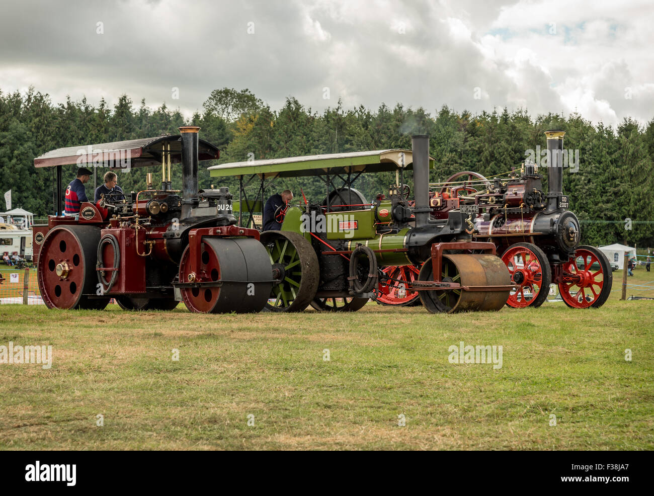 Vintage Steam Rollers and Traction Locomotive - Stock Image