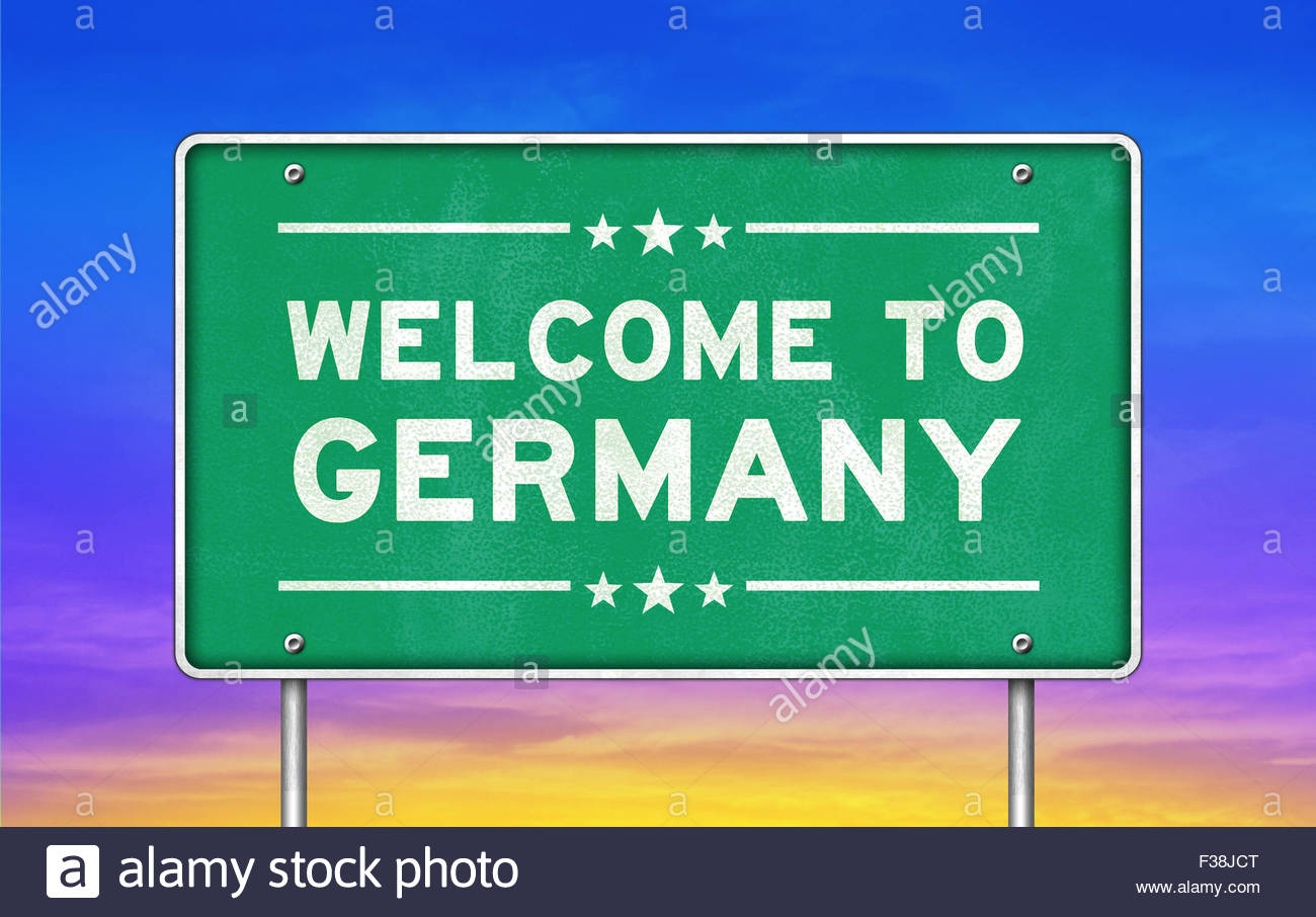 Welcome to Germany - Stock Image