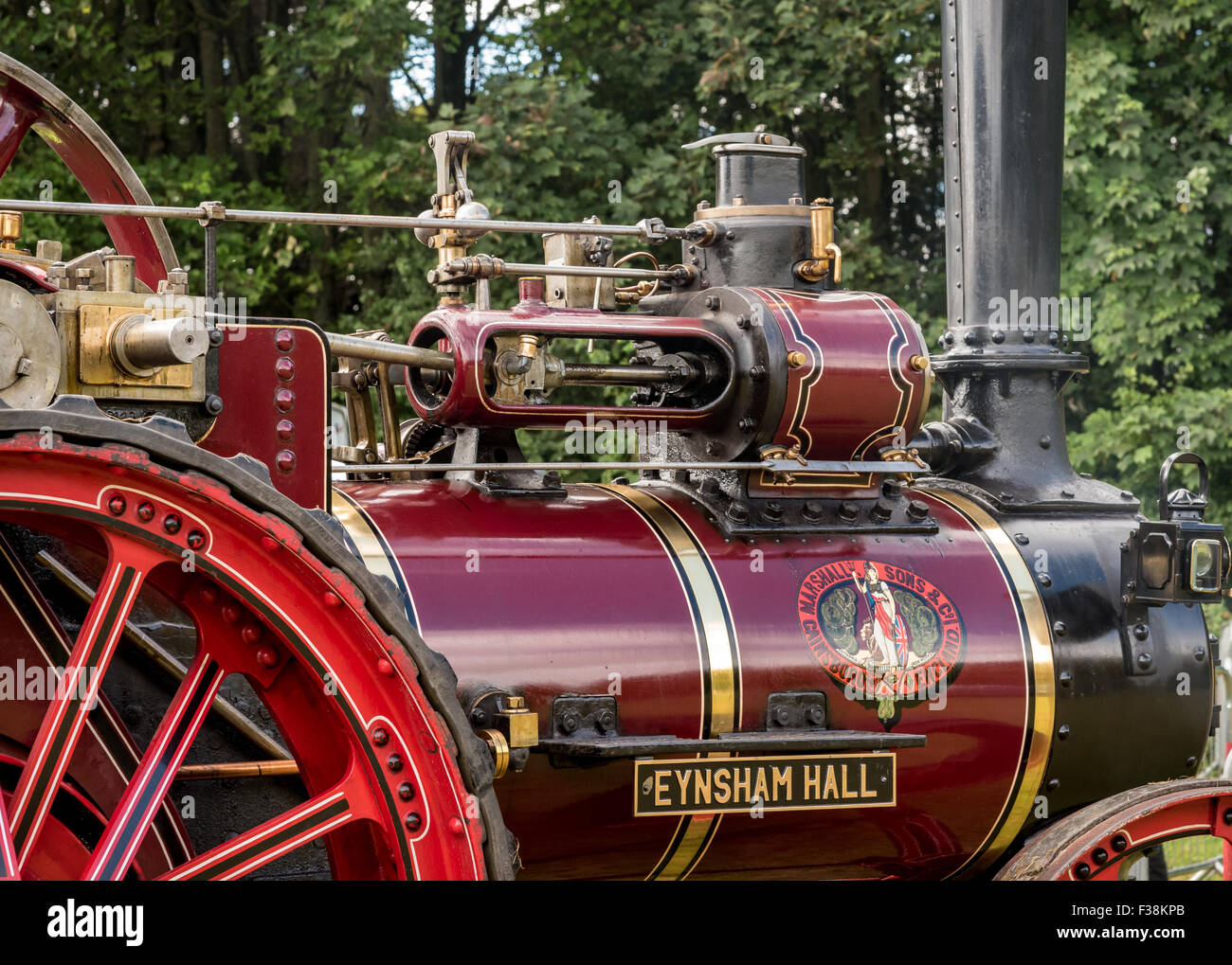 Detail of Vintage Steam Traction Locomotive - Stock Image