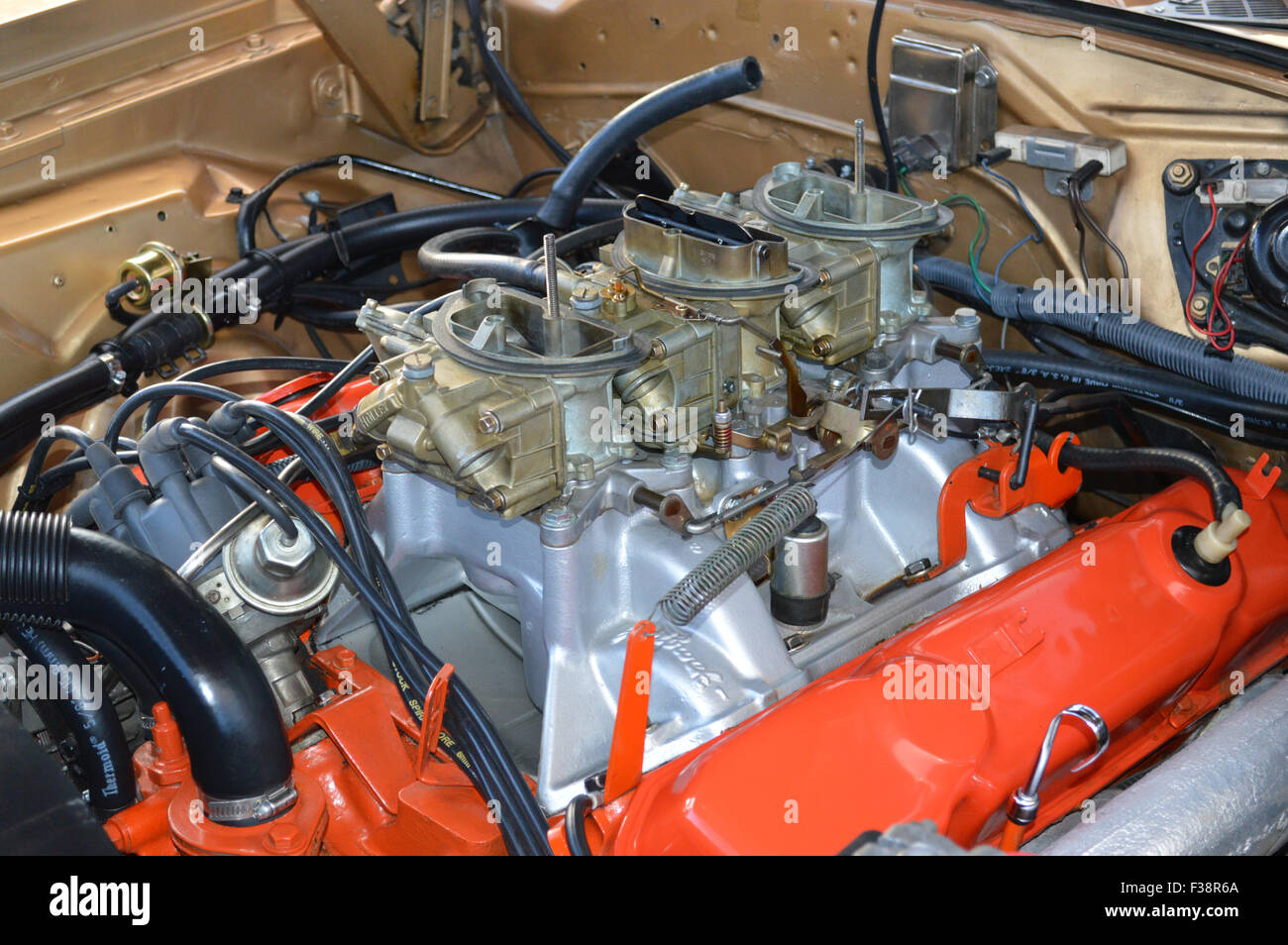 Mid Valley Dodge >> A Dodge 440 Six Pack engine on display at a car show Stock Photo: 88089634 - Alamy