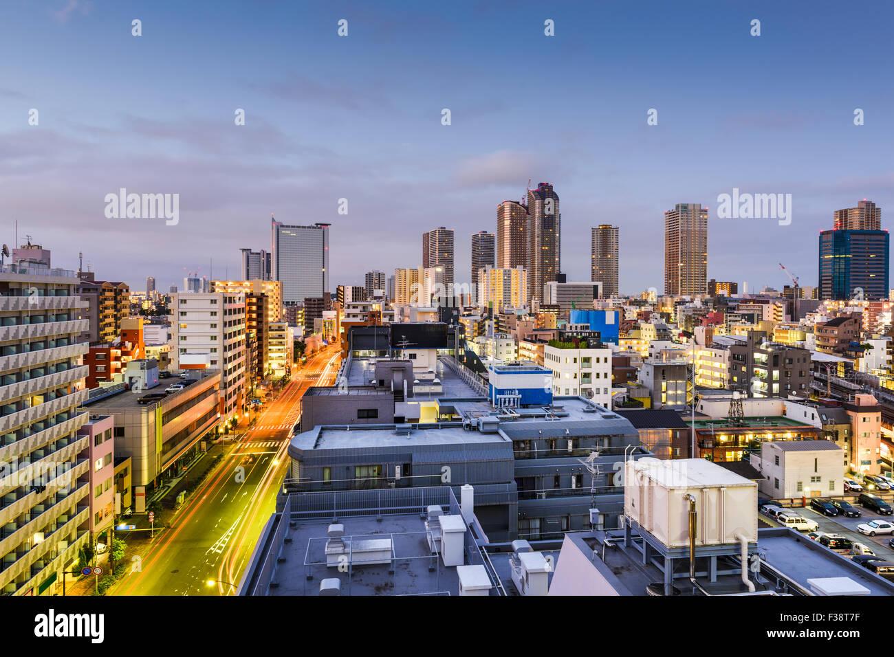 Kawasaki, Kanagawa, Japan downtown cityscape Stock Photo: 88090451