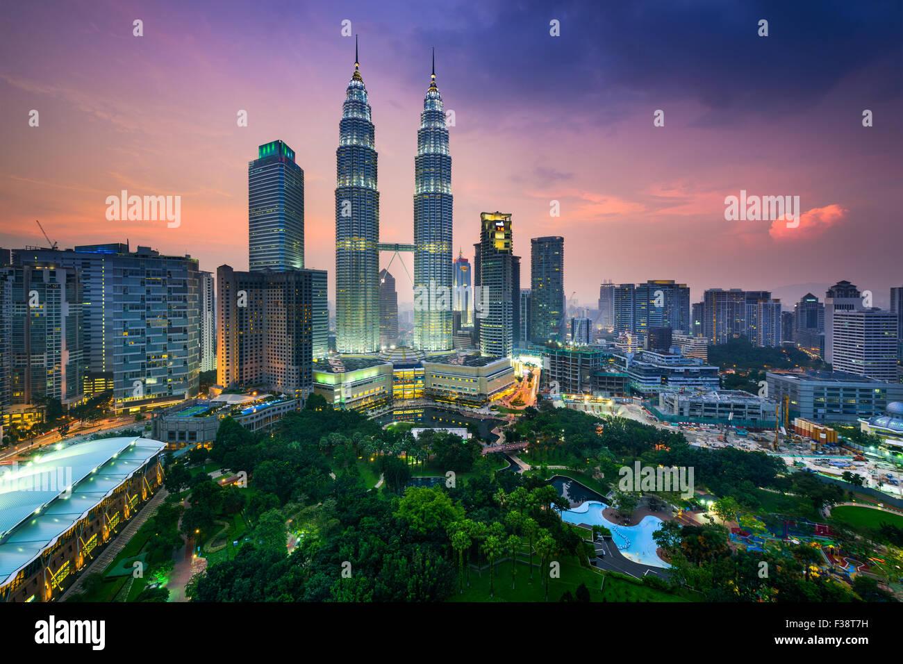 Kuala Lumpur, Malaysia city skyline. - Stock Image
