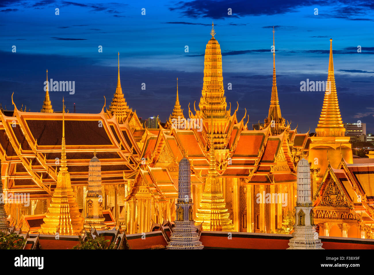 Bangkok, Thailand at the Temple of the Emerald Buddha and Grand Palace. - Stock Image