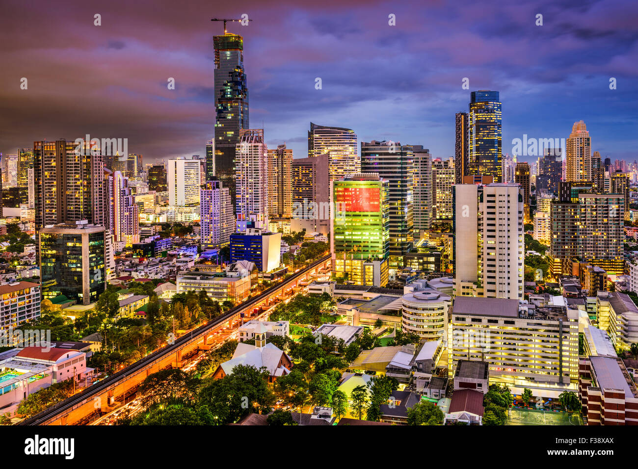 Bangkok, Thailand city skyline. - Stock Image
