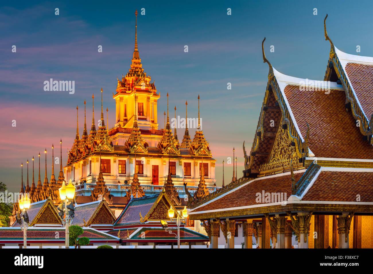 Wat Ratchanatdaram 'Metal Temple' in Bangkok, Thailand. - Stock Image
