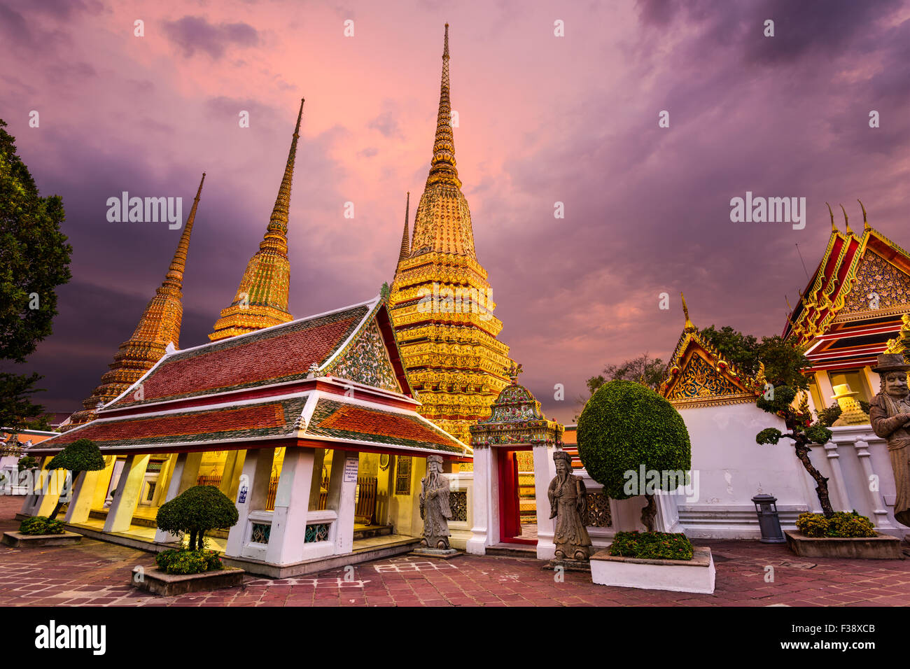 Wat Pho Temple in Bangkok, Thailand. - Stock Image