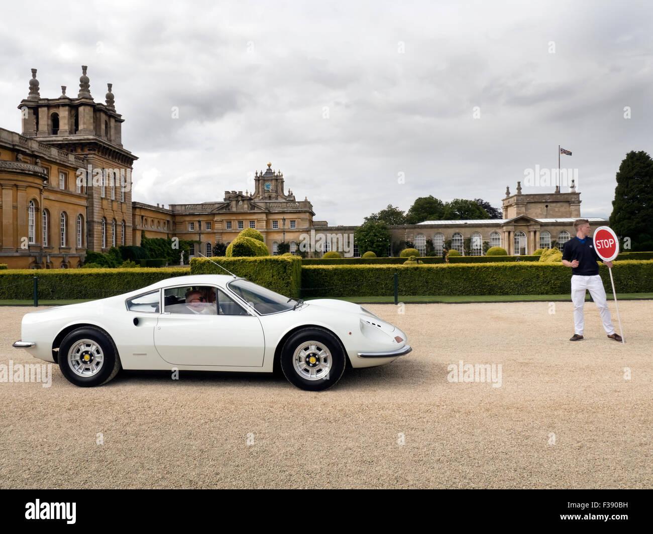 1972 Ferrari Dino at Salon Prive auto show 2015 Blenheim Palace - Stock Image