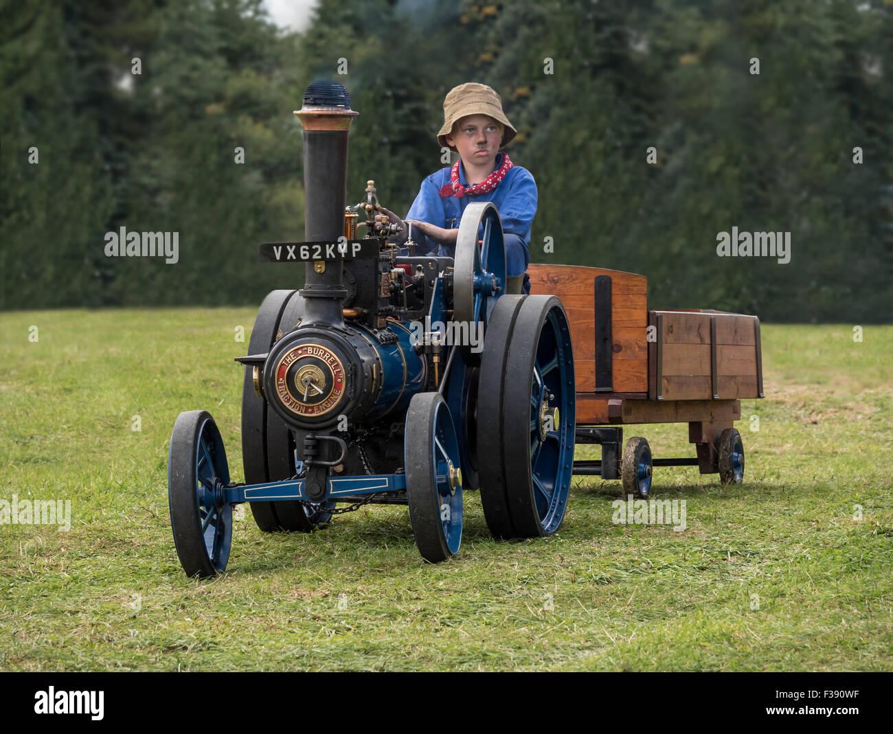 Model Vintage Steam Traction Locomotive - Stock Image