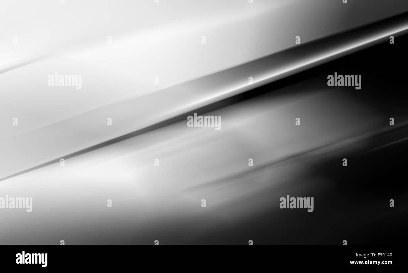 Abstract monochrome digital blurred background, 3d illustration - Stock Image
