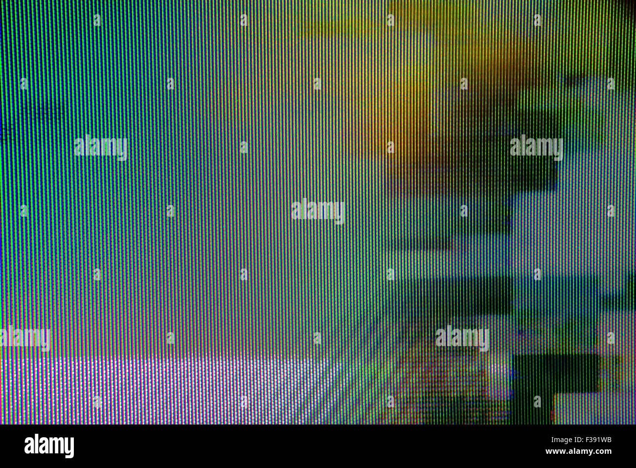 Digital TV broadcast glitch, television screen as technology background - Stock Image