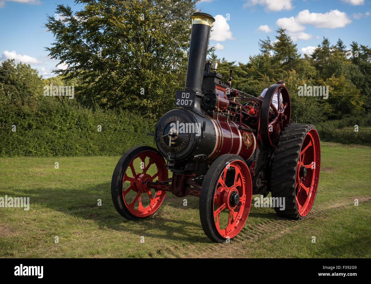 Vintage Steam Traction Locomotive - Stock Image