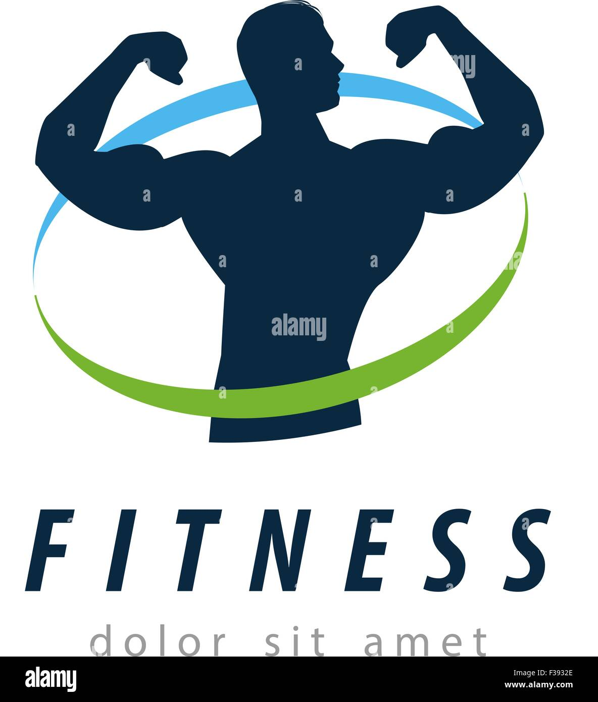 fitness vector logo design template. health or gym icon Stock Vector