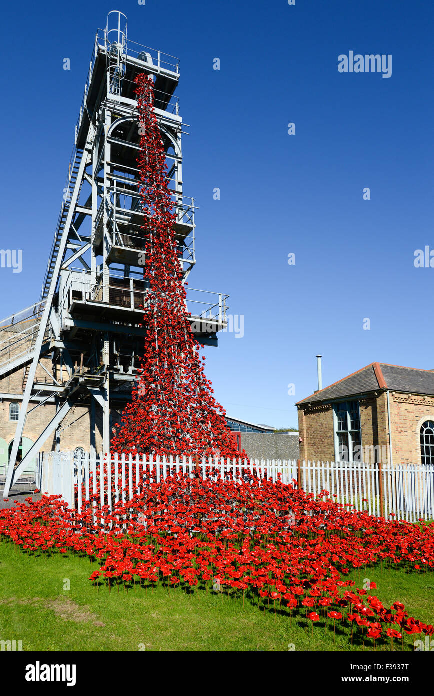 The Weeping Window at Woodhorn By Paul Cummins, artist, and Tom Piper, designer - Stock Image