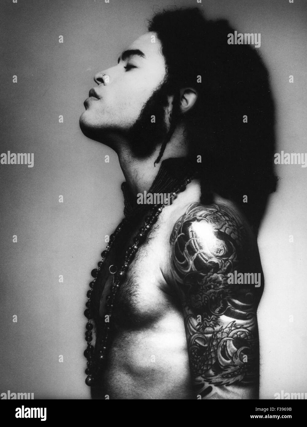 Lenny kravitz promotional photo of us musician about 1995 stock image