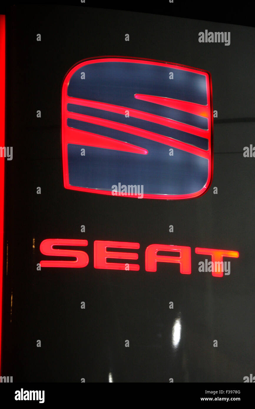 Markenname: 'Seat', Berlin. - Stock Image