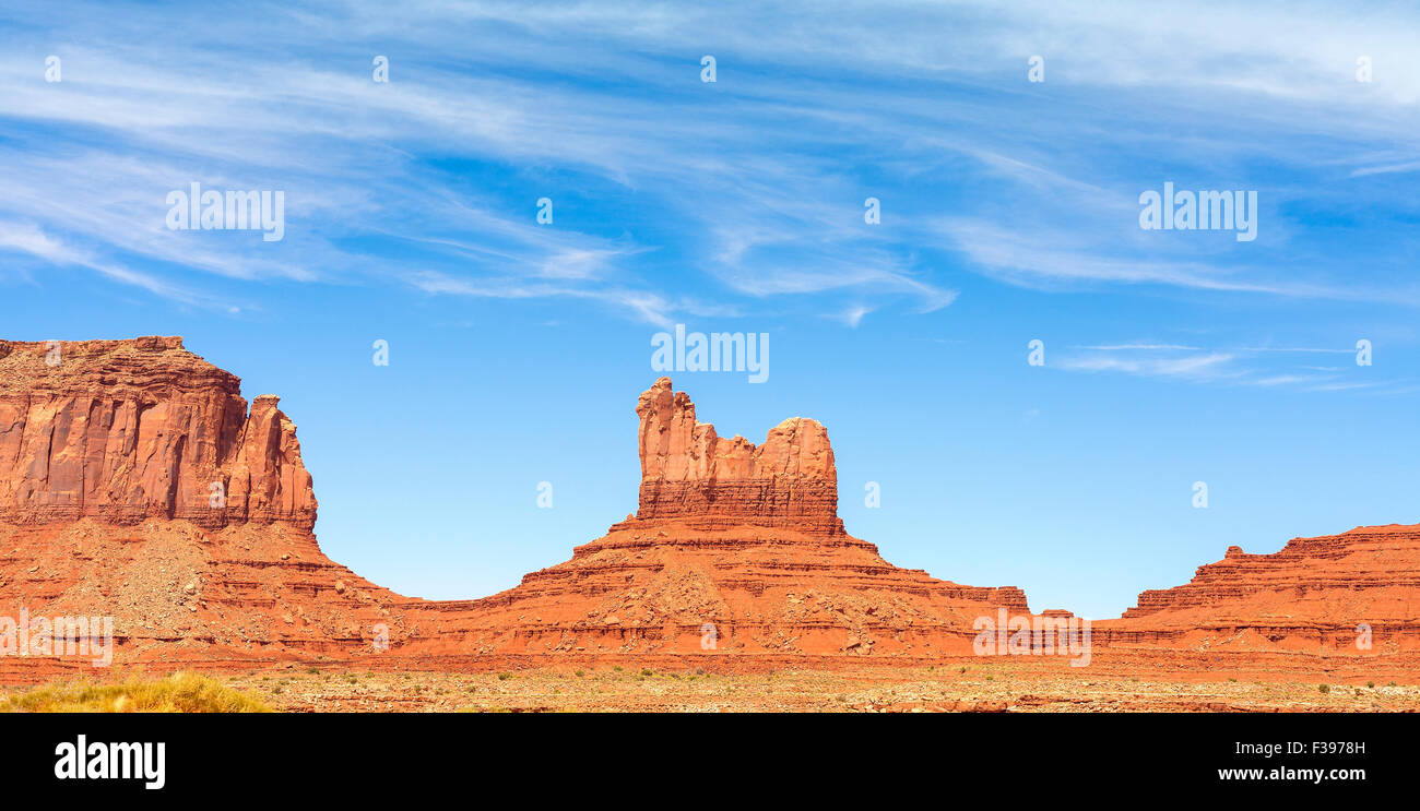 Rock formations in Monument Valley, Utah, USA. - Stock Image