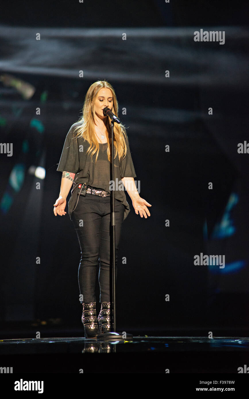 Malmö, Sweden. Monday, 13th May 2013. Anouk performs her Song 'Birds' for the Netherlands. - Stock Image