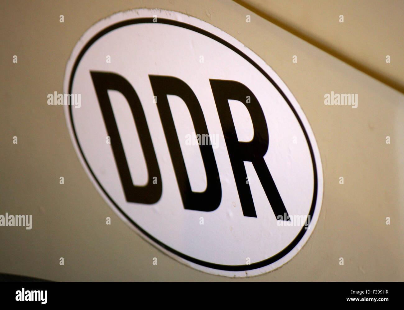 Laender-Abzeichen 'DDR', Berlin. - Stock Image