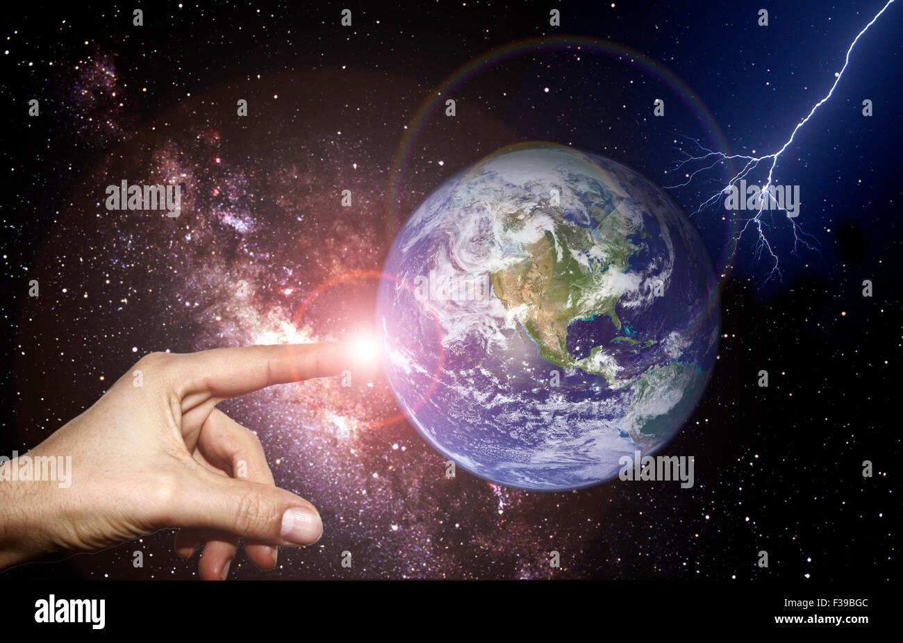 Symbolbild: Schoepfung / symbolic image: creation. - Stock Image