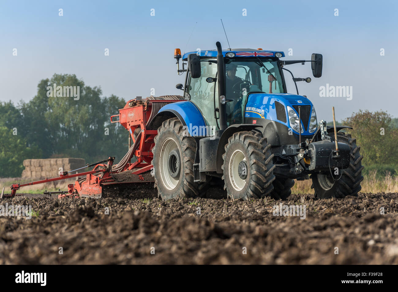 Tractor at Work - Stock Image