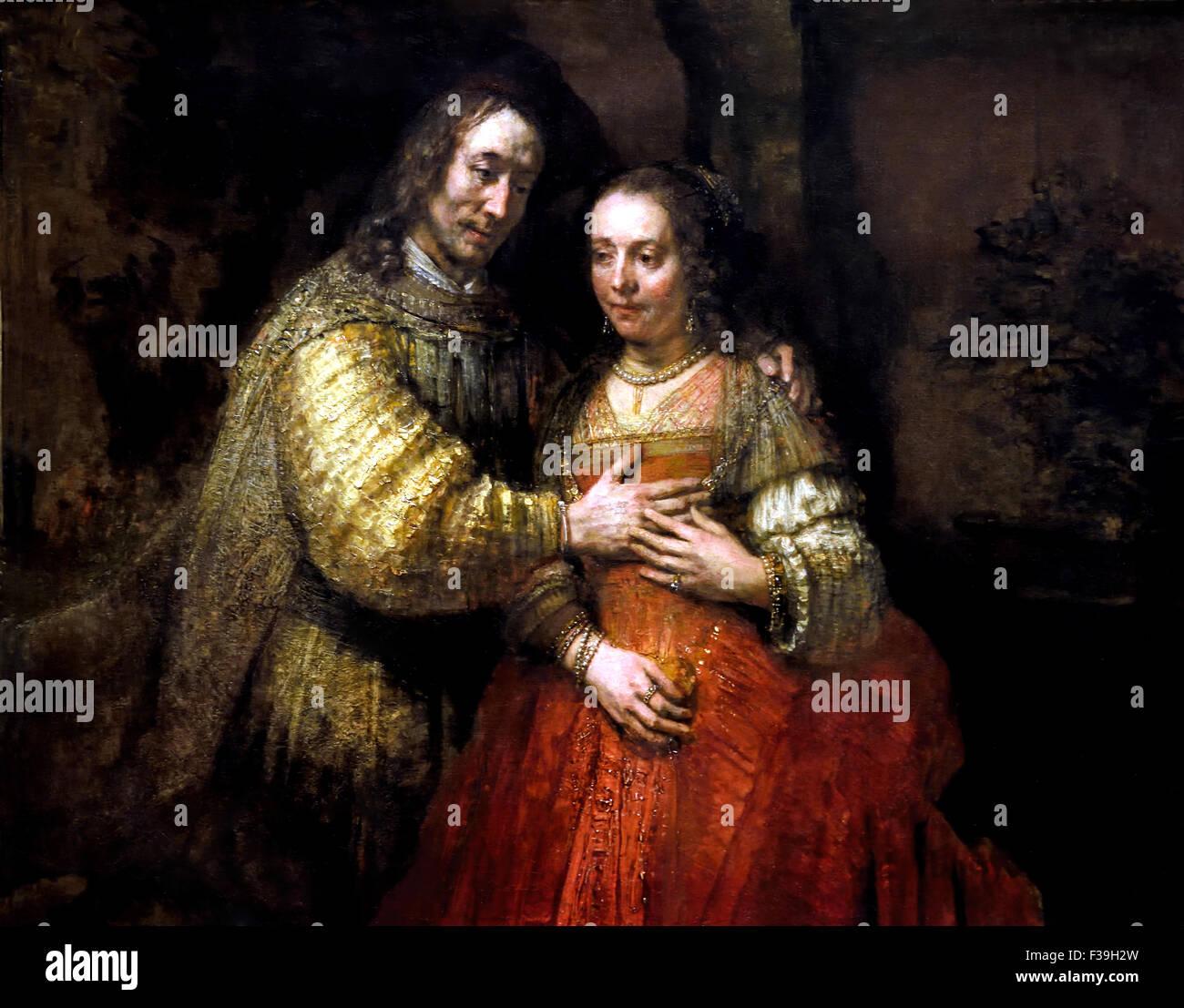 Isaac en Rebecca The Jewisch Bride Rembrandt Harmensz. van Rijn Dutch 1606–1669 Netherlands - Stock Image