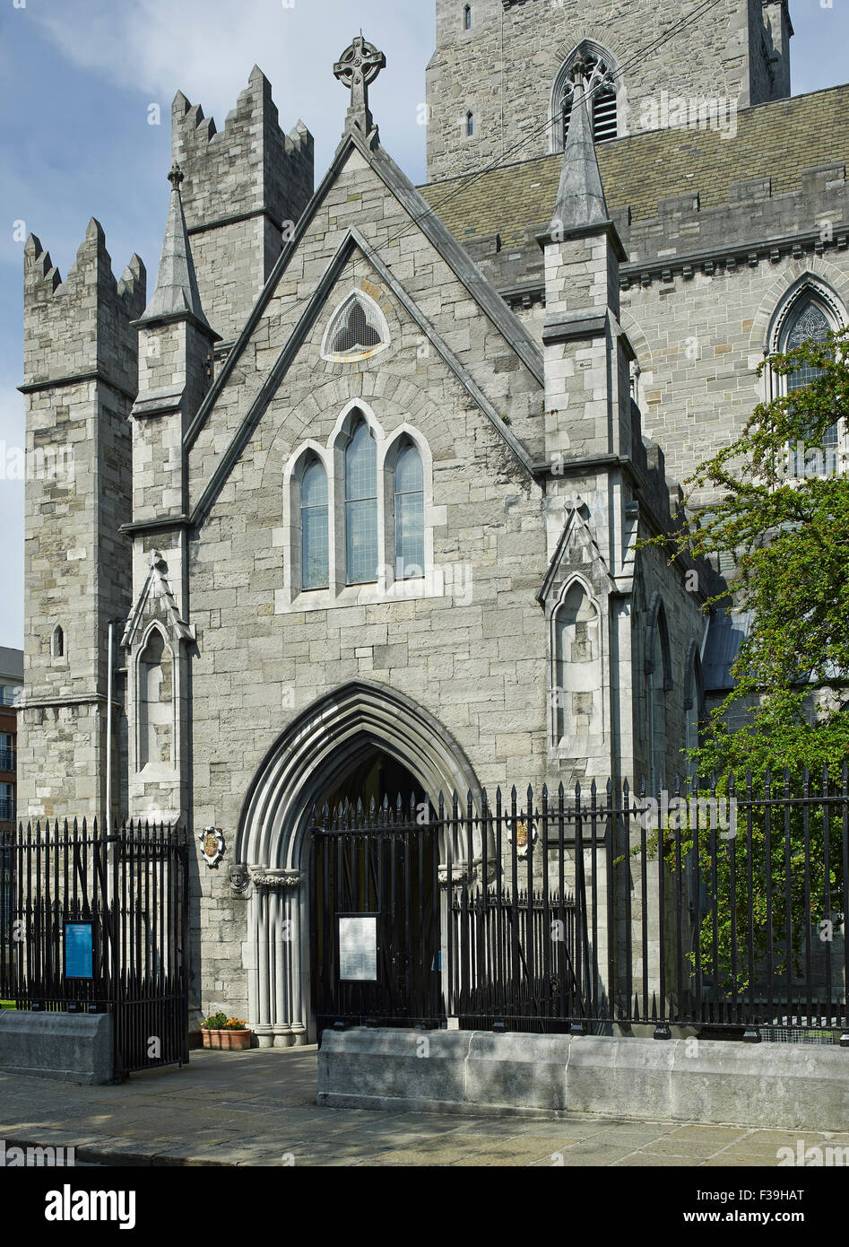 St Patrick's Cathedral Dublin porch - Stock Image