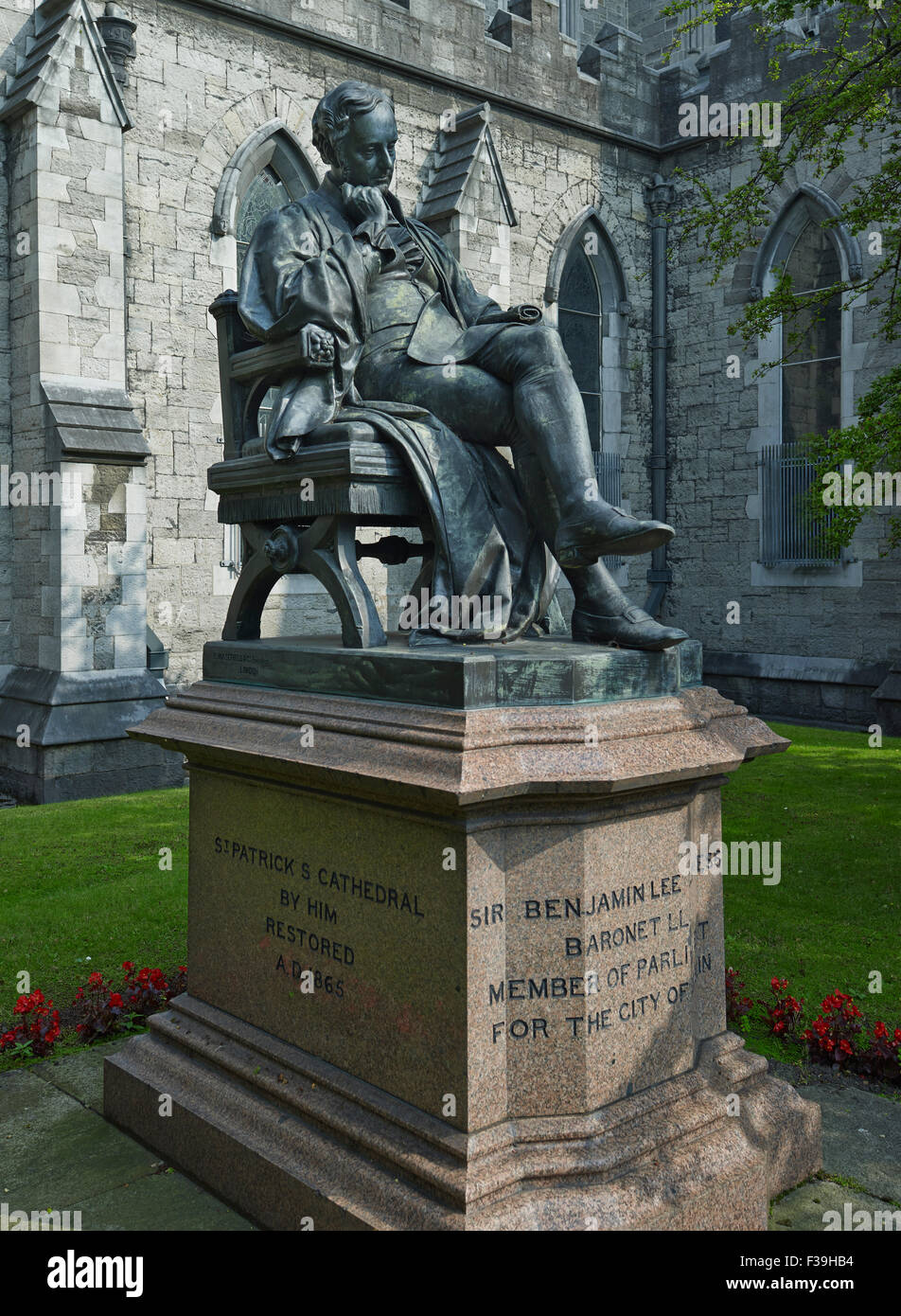 St Patrick's Cathedral Dublin Guinness - Stock Image