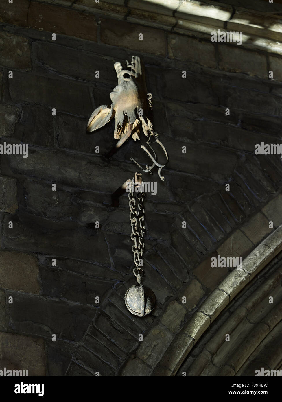 St Patrick's Cathedral Dublin cannonball - Stock Image