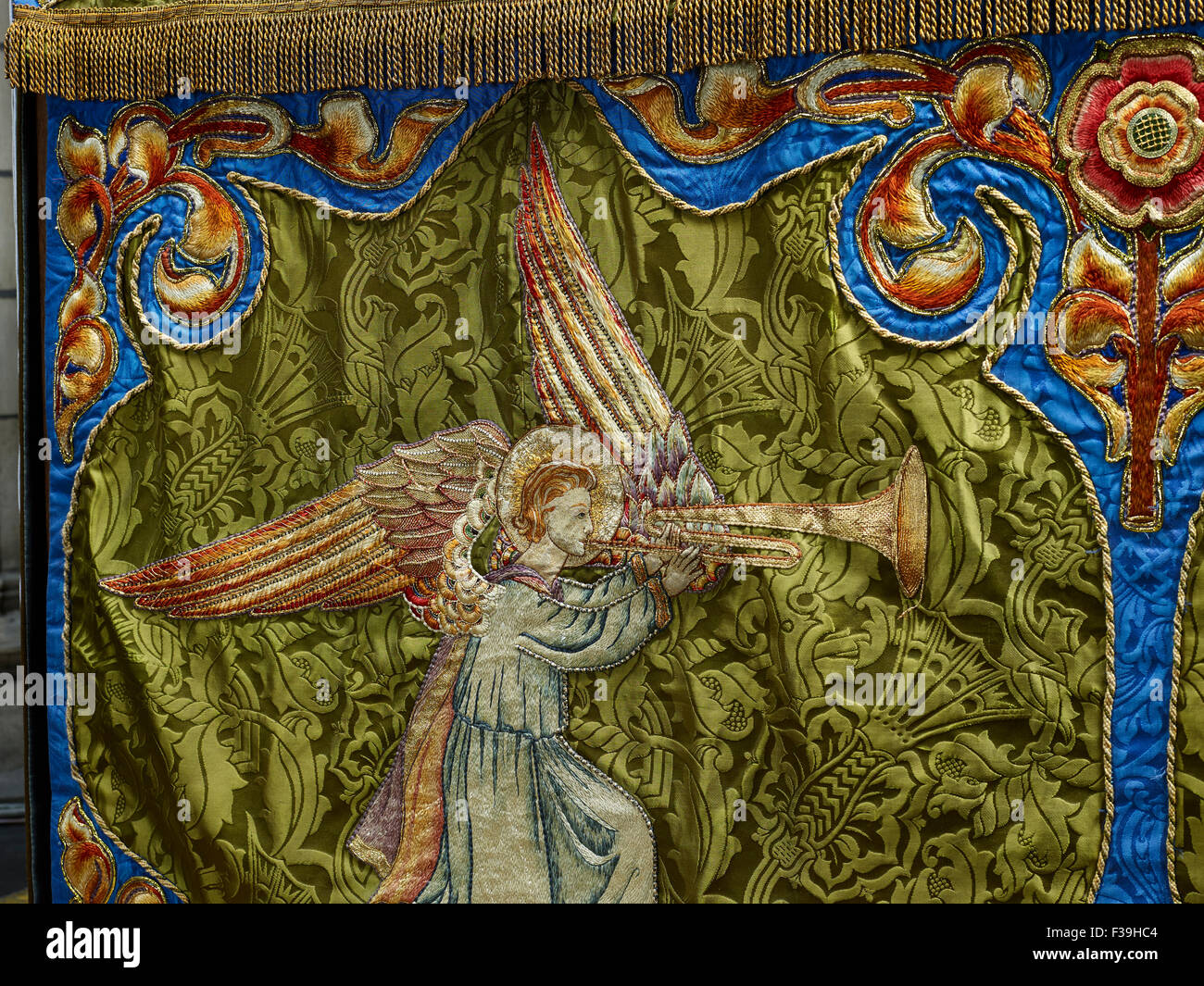 St Patrick's Cathedral Dublin altar frontal - Stock Image