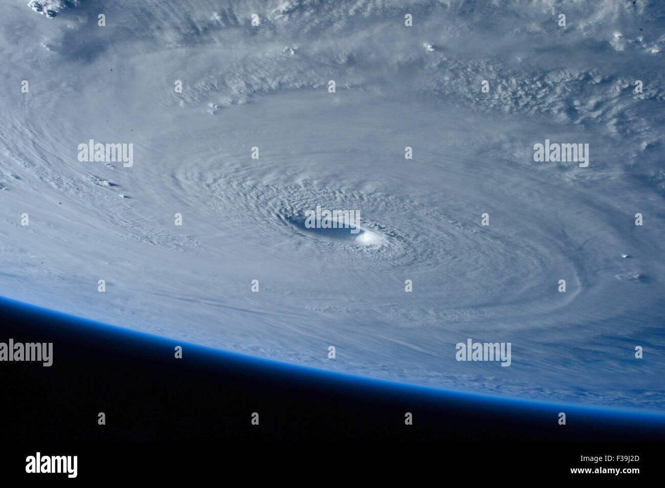 Typhoon Maysak strengthened into a super typhoon on March 31, reaching Category 5 hurricane status on the Saffir - Stock Image