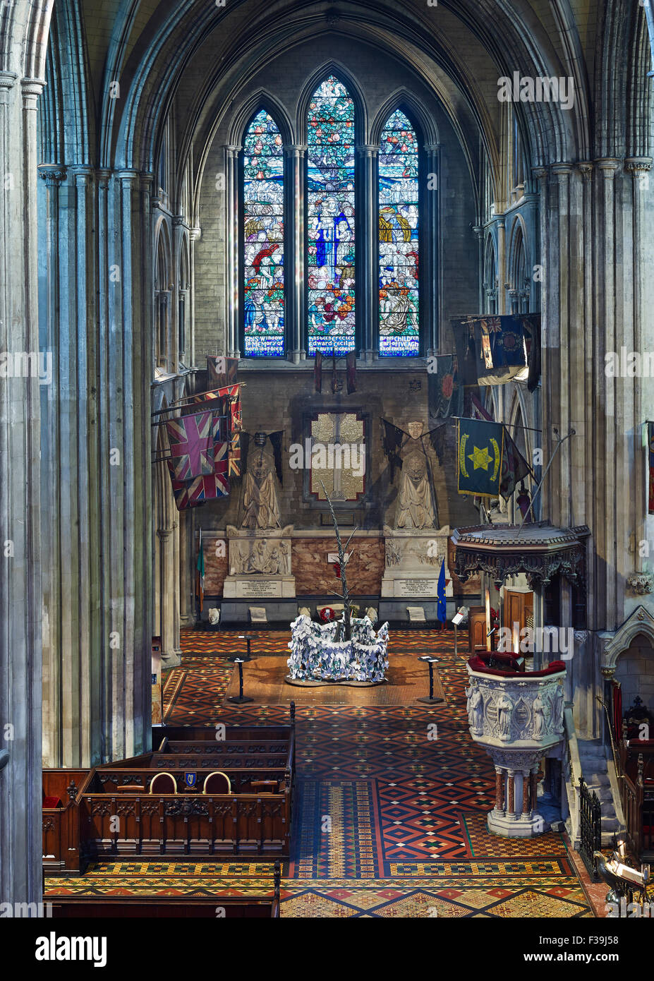 St Patrick's Cathedral Dublin north transept - Stock Image