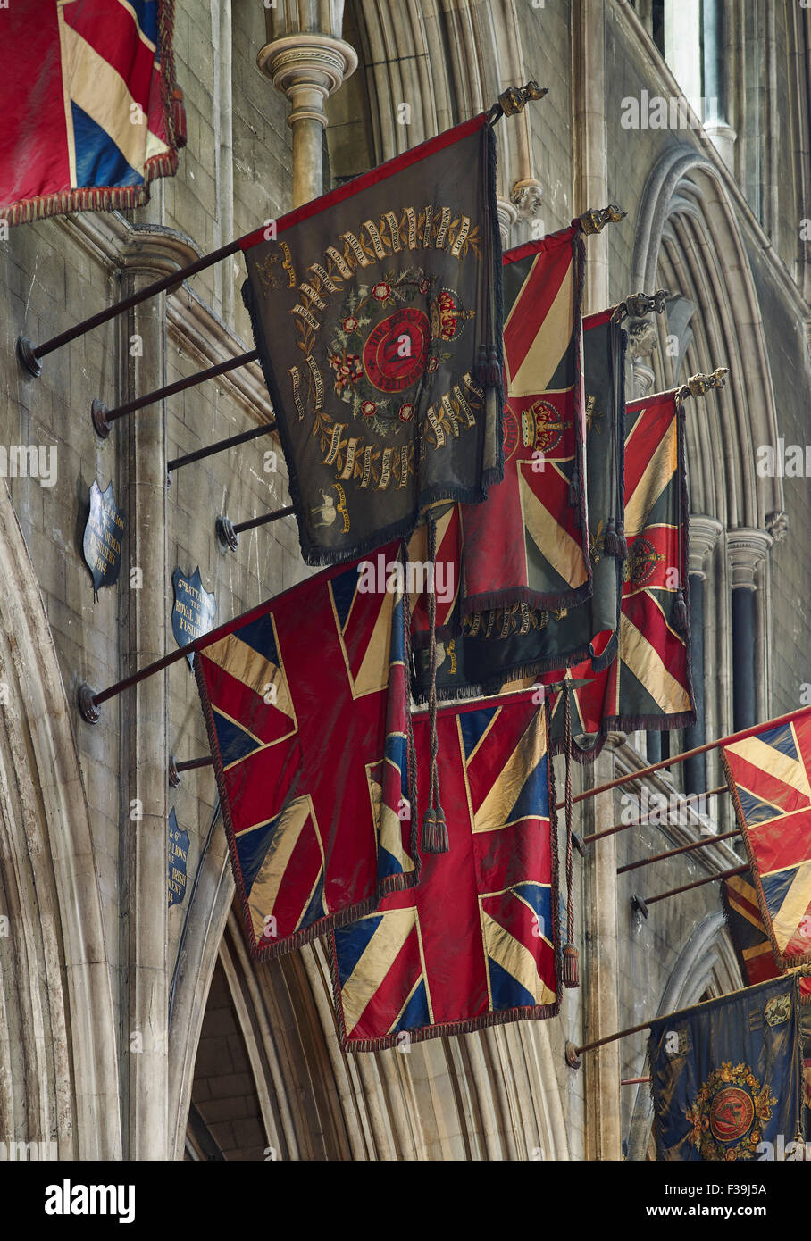 St Patrick's Cathedral Dublin north transept flags - Stock Image