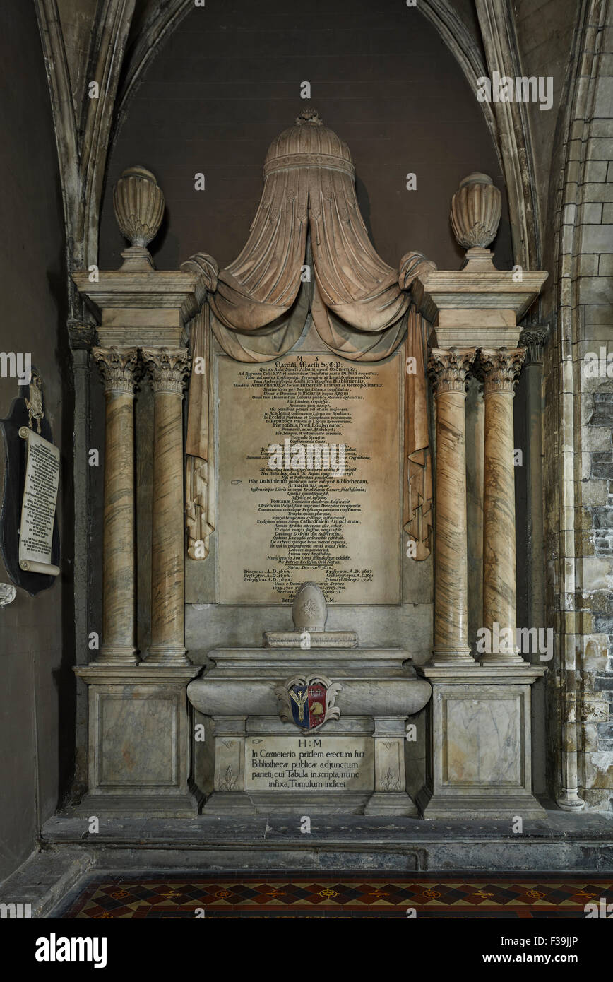 St Patrick's Cathedral Marsh Monument - Stock Image