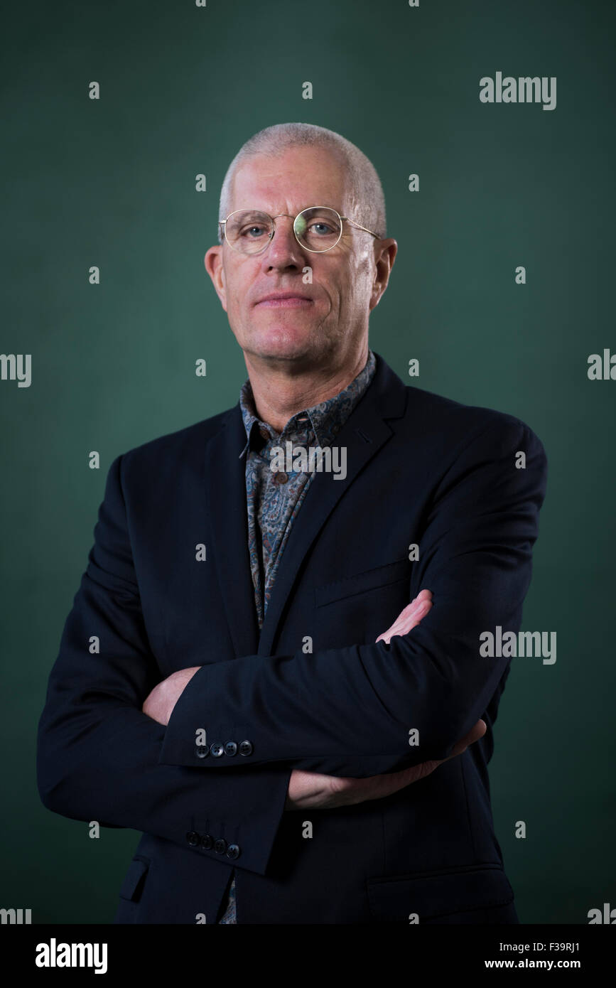 English author of novels and short stories Magnus Mills. - Stock Image