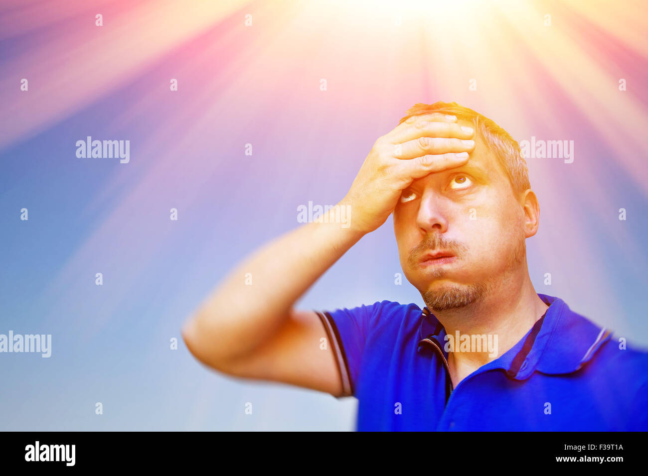 Its a very hot summer - Stock Image