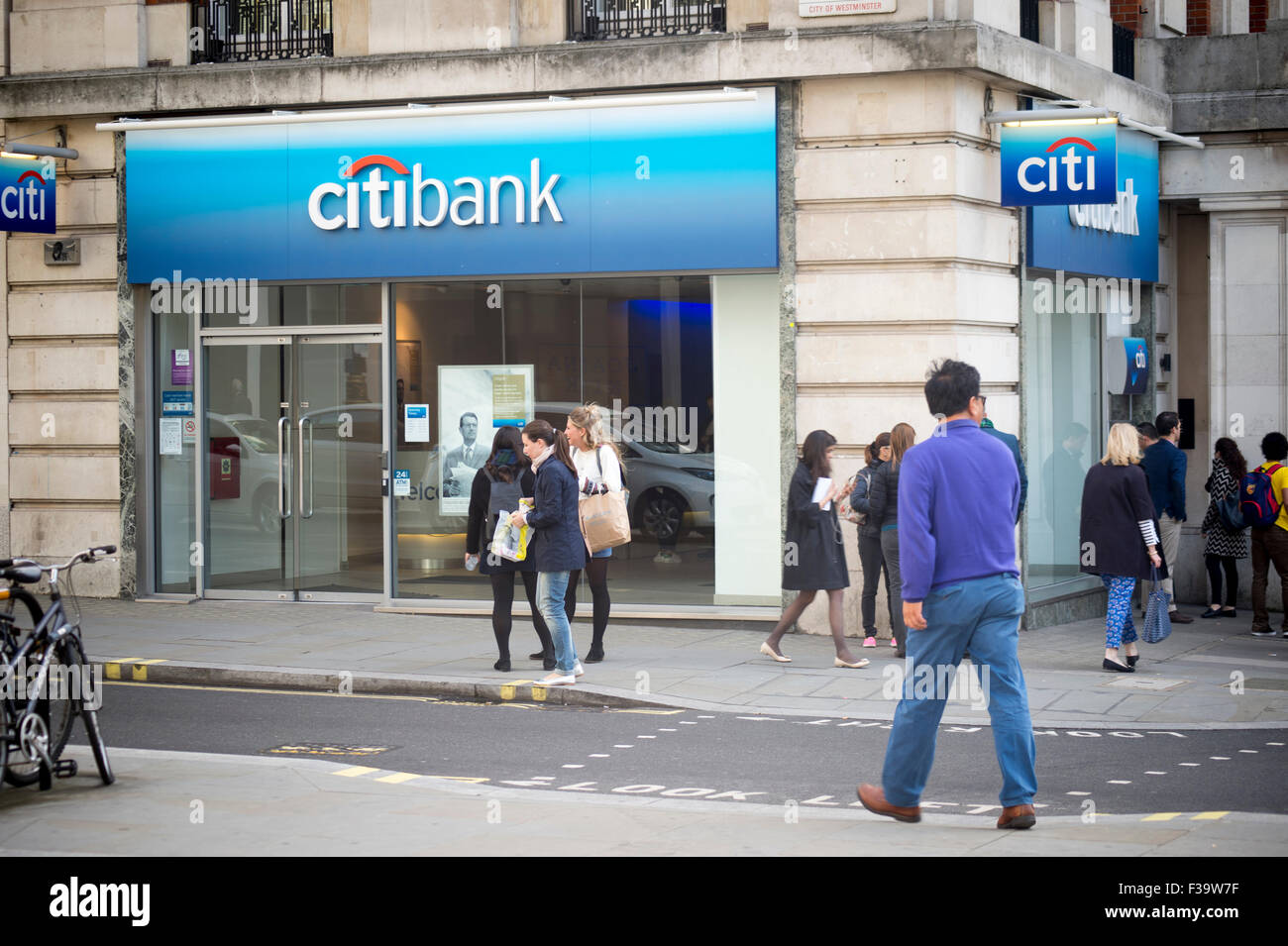 Branch of Citibank in the centre of London UK - Stock Image