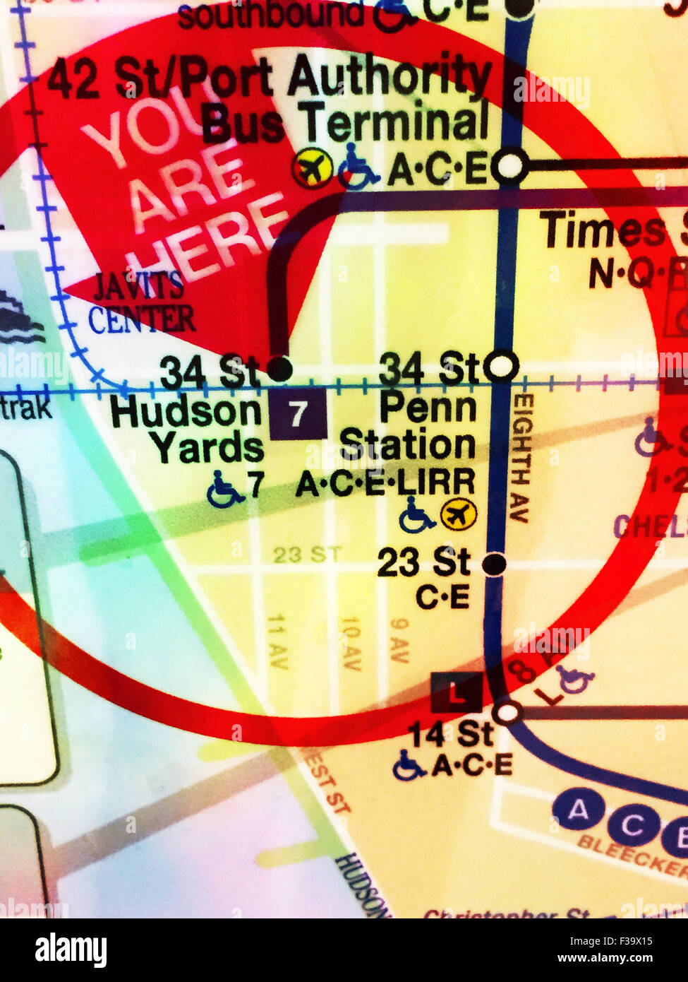 Location Detail You are Here on MTA NYC Subway route Map NYC