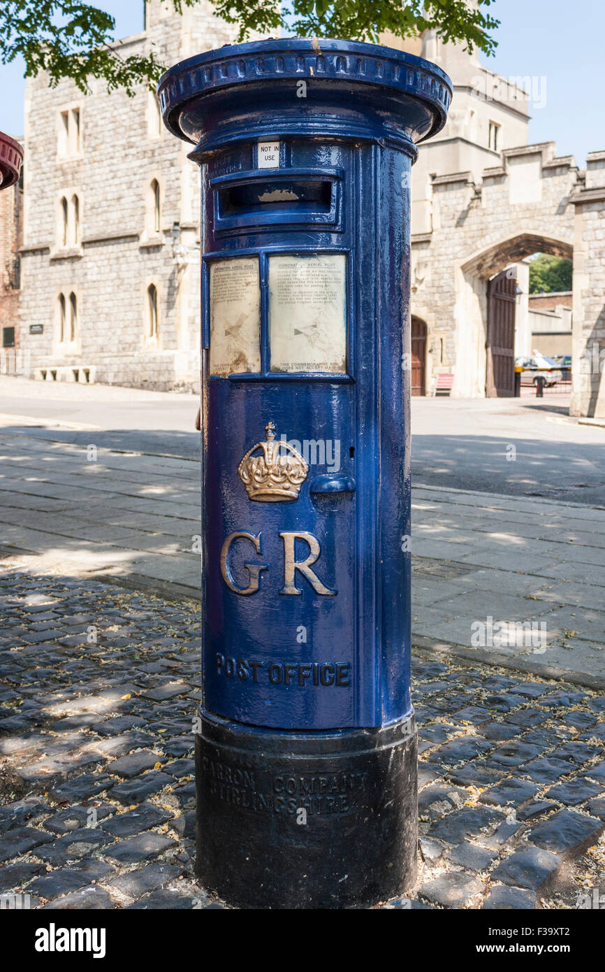 Postboxes for Royal Mail. Windsor, Berkshire, England, GB, UK. - Stock Image
