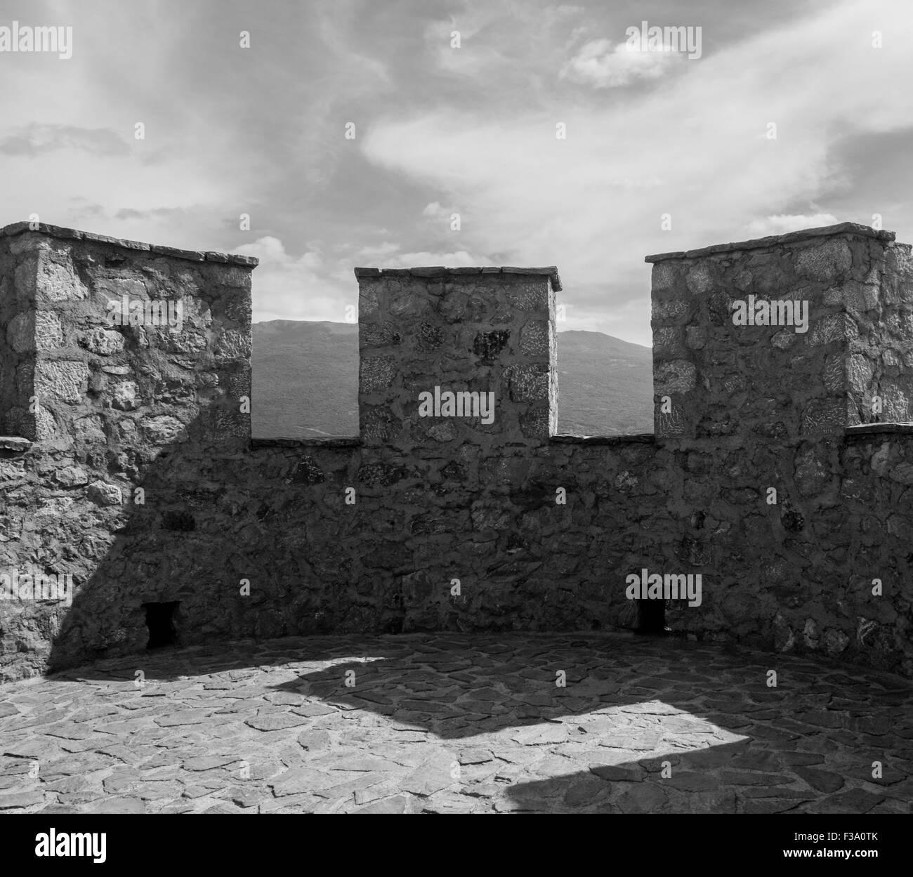 Symmetrical Castle turrets - Stock Image