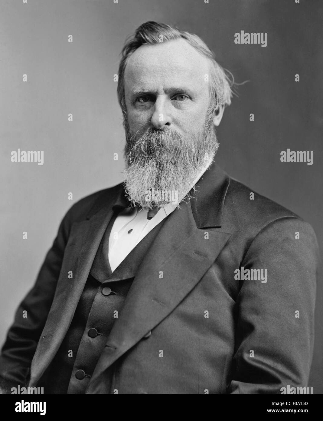 Vintage American history photo of President Rutherford B. Hayes. - Stock Image