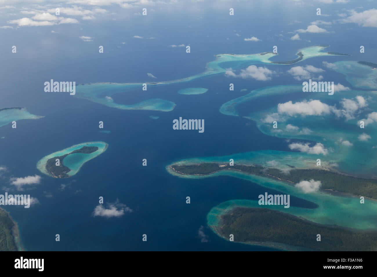 Solomon Islands Aerial View - Stock Image